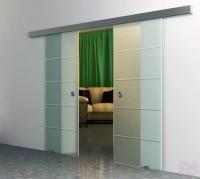 Двойная раздвижная стеклянная дверь Диана-2