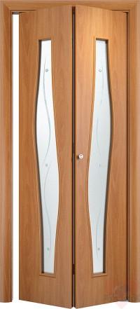 Складная межкомнатная дверь книжка С10(О)Ф