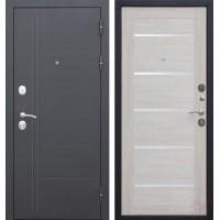 Дверь металлическая Троя Серебро Лиственница беж