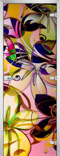 Дверь стеклянная Abstraction-05 матовое бесцветное