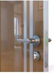 Дверь межкомнатная пвх ДГ-506 Анегри тёмный глянец с алюминиевой кромкой