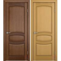 Дверь межкомнатная шпонированная Сиена ДГ орех, дуб