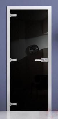 Дверь стеклянная фотопечать RAL 9005 матовое бесцветное