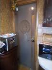Стеклянная дверь Mirra - Венера и Меандр, стекло б/ц прозрачное