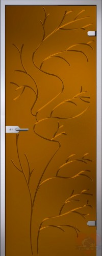 Дверь стеклянная Иллюзион 15 Эльвира бронза матовая