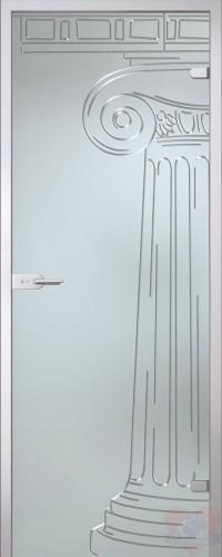Дверь стеклянная межкомнатная Капитель