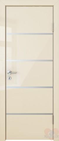 Дверь межкомнатная пвх ДГ-505 Ваниль глянец