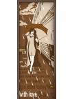 Стеклянная дверь Перрон - Сатинато Бронза