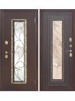 Входная дверь со стеклопакетом Плющ - Венге