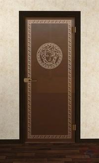 Дверь стеклянная межкомнатная Версаль-02 - Стекло бронза матовое