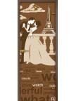 Стеклянная дверь Париж - Сатинато Бронза