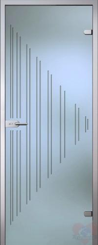 Дверь стеклянная межкомнатная Ребекка