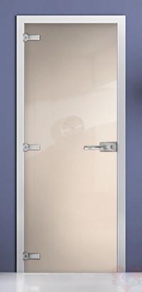 Дверь стеклянная фотопечать RAL 9001 матовое бесцветное