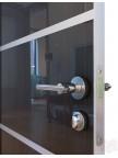 Дверь межкомнатная пвх ДГ-505 Венге глянец с алюминиевой кромкой