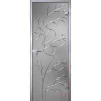 Дверь стеклянная Иллюзион 15 Эльвира серое матовое