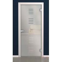 Дверь стеклянная межкомнатная Рион - Стекло матовое бесцветное