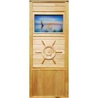 Дверь для сауны липа - Парусник