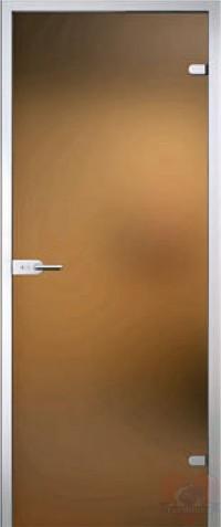 Дверь стеклянная Браво Лайт - Сатинато Бронза