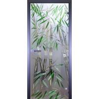 Дверь стеклянная межкомнатная Бамбуковая роща