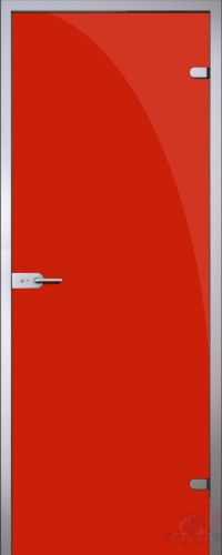 Дверь стеклянная межкомнатная триплекс Красный