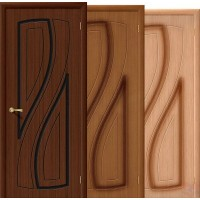 Дверь межкомнатная шпонированная Лагуна ДГ