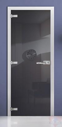 Дверь стеклянная фотопечать RAL 7016 матовое бесцветное