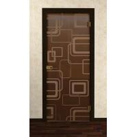 Дверь стеклянная межкомнатная Стайл - Стекло бронза матовое