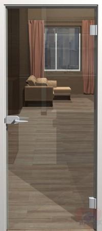 Дверь стеклянная межкомнатная Лайт прозрачное бесцветное