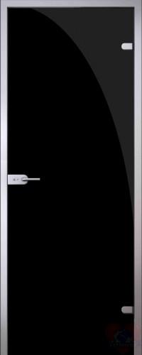 Дверь стеклянная межкомнатная триплекс Черный