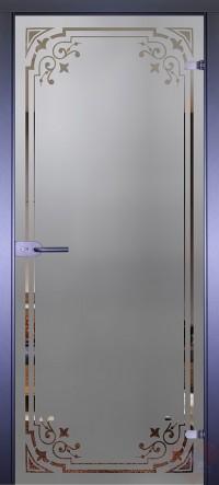 Дверь стеклянная межкомнатная Mirra - Рамка-3