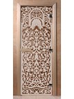 Стеклянная дверь для сауны Ольха - бронза Флоренция