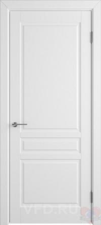 Дверь эмалированная Стокгольм ДГ белая