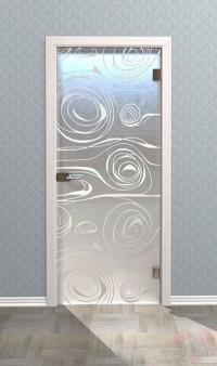 Дверь стеклянная межкомнатная Делео - Стекло матовое