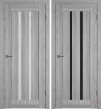 Дверь межкомнатная экошпон Line-2 Серый дуб