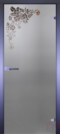 Дверь стеклянная межкомнатная Mirra - Уголок букет