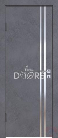 Дверь межкомнатная пвх ДГ-506 Бетон темный