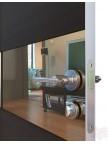 Дверь межкомнатная пвх ДО-501 Венге поперечный - Зеркало бронза