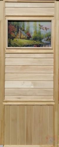 Дверь для сауны липа - Летят утки