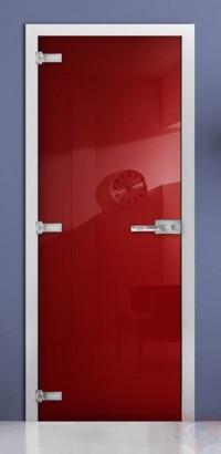 Дверь стеклянная фотопечать RAL 3020 матовое бесцветное