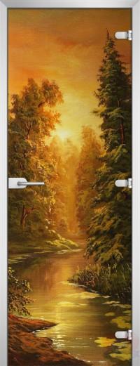 Дверь стеклянная Painting-10 матовое бесцветное