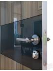 Дверь межкомнатная пвх ДО-501 Сосна глянец - Черное