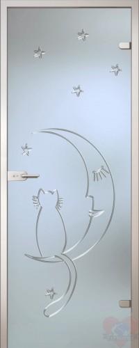 Дверь стеклянная межкомнатная Ночь