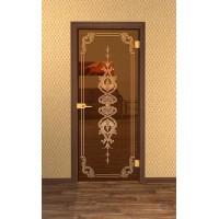 Дверь стеклянная межкомнатная Классик - Стекло бронза прозрачное