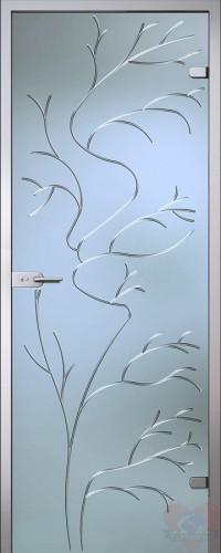 Дверь стеклянная межкомнатная Эльвира