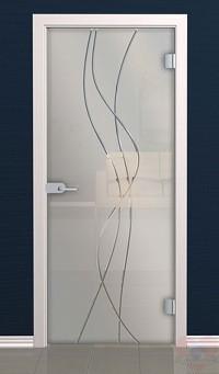 Дверь стеклянная межкомнатная Мелоди - Стекло матовое бесцветное