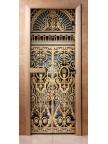 Стеклянная дверь для сауны - фотопечать А029