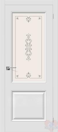 Дверь межкомнатная пвх Скинни-13 белая