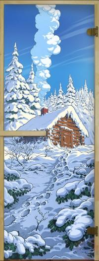 Стеклянная дверь для сауны Русская Баня - 05