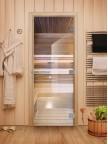 Стеклянная дверь для сауны Эталон - стекло прозрачное