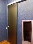 Раздвижная стеклянная дверь Лайт - бронза матовая